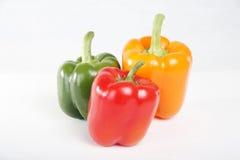 Pimientas verdes amarillas rojas Foto de archivo libre de regalías