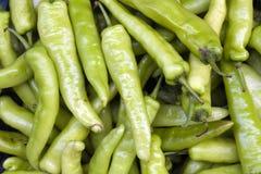 Pimientas verdes calientes imagen de archivo libre de regalías