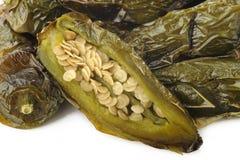 Pimientas verdes del jalapeno de la carne asada Imagen de archivo