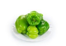 Pimientas verdes dulces Foto de archivo libre de regalías