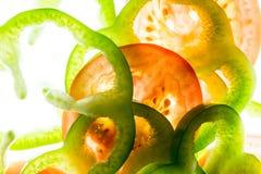 Pimientas y tomate 2 Foto de archivo libre de regalías
