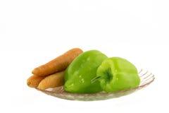 Pimientas y zanahorias Imagen de archivo libre de regalías