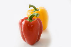 Pimiento. Big pimiento on white background, very lovely color and shape Stock Photography
