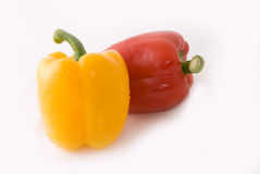 Pimiento. Big pimiento on white background, very lovely color and shape Royalty Free Stock Image