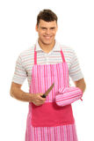 Pimk apron. Stock Image