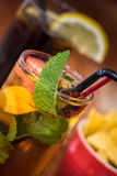 Pimms and coke Stock Photography