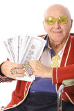 Pimping grandpa vertical Royalty Free Stock Photos