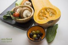 Pimpkin с томатами и champignons Стоковая Фотография