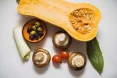 Pimpkin с томатами и champignons Стоковые Изображения RF