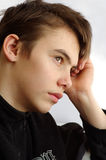 Pimples skin. Problems with the skin at the transitional age Stock Image