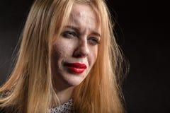 Pimply skóra płacz zdjęcia royalty free
