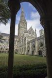 Pináculo da catedral de Salisbúria imagens de stock
