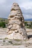 Rocha em Mammoth Hot Springs foto de stock royalty free