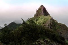 Pináculo de la montaña del valle de Maui Iao Fotografía de archivo libre de regalías
