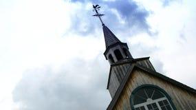 Pináculo e steeple da igreja Foto de Stock Royalty Free