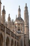 Pináculos altos de Faculdade do rei Imagens de Stock Royalty Free