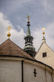 Pináculos da igreja Fotos de Stock Royalty Free