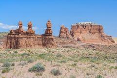 Pináculos da rocha do azarento no parque estadual Utá EUA do vale do diabrete Fotografia de Stock Royalty Free