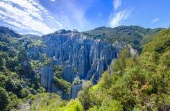 Pináculos de Putangirua em Nova Zelândia Fotos de Stock