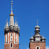 Pináculos do St Mary Church Imagem de Stock Royalty Free