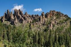 Pináculos em Custer State Park, South Dakota foto de stock