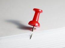 Pin和纸 库存图片
