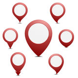 Pin地图标志 库存照片