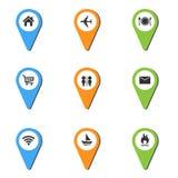 Pin地方象的传染媒介例证 免版税图库摄影
