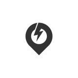 Pin地点商标 库存图片