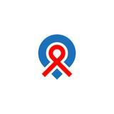 Pin地点商标 免版税库存照片