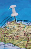 Pin в карте Стоковые Изображения RF