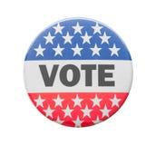 Pin кнопки голосования стоковое фото