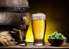 Pin пива и стекла пива Стоковые Фотографии RF