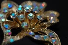 Pin 3 da flor do diamante Foto de Stock Royalty Free