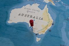 A Pin On Adelaide Australia In The World Map Stock Image Image Of