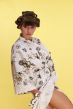 Pin-Ap the girl. In a Japanese dressing gown Royalty Free Stock Photography