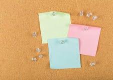Pin board, cork board, bulletin board Stock Images