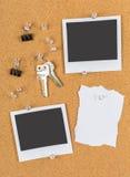 Pin board, cork board, bulletin board Stock Photos