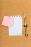 Pin board, cork board, bulletin board Stock Image