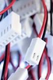 Pin-Bolzen und elektronische Verbinder Lizenzfreie Stockfotos