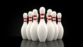 10 Pin-Bowlingspiel Lizenzfreie Stockbilder