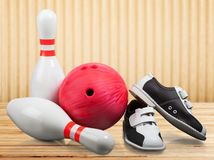 10 Pin-Bowlingspiel Stockfoto