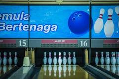 10 Pin-Bowlingspiel Stockfotografie