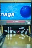 10 Pin-Bowlingspiel Lizenzfreies Stockfoto