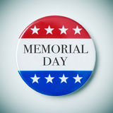 Pin button with the text memorial day royalty free stock images