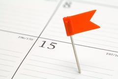 Pin In Calendar Images libres de droits