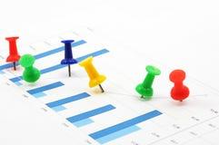 Pin and chart Stock Photo