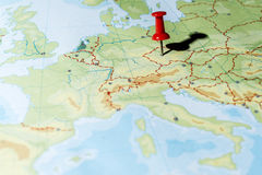 Pin che indica Praga Fotografia Stock Libera da Diritti