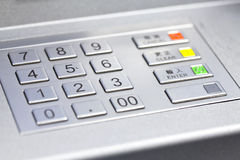Pin code of ATM machine Royalty Free Stock Images