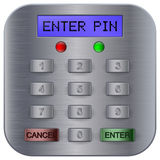 Pin code keypad for ATM machine Royalty Free Stock Images